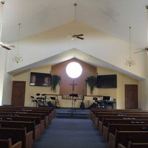 Crosby Community Church Interior Sanctuary